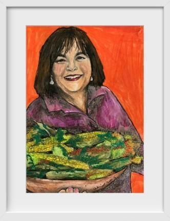 Ina Garten - 14x16 / White Frame / Buy - Limited Edition Print