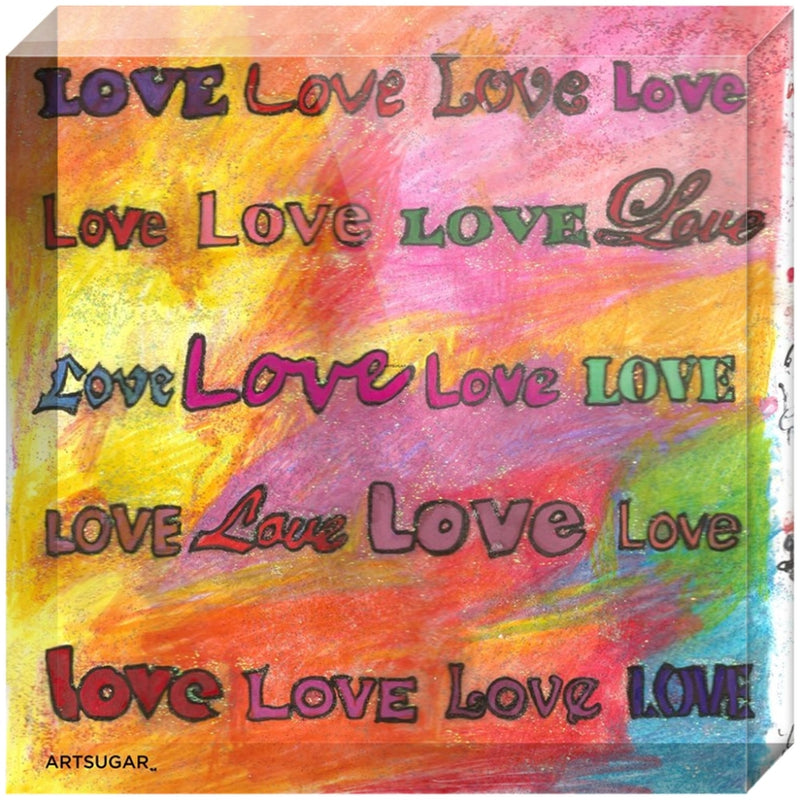 Love Blocks - Acrylic block