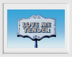 Love Me Tender - 22x26 / White Frame / Buy - Limited Edition Print