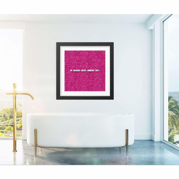 Love You Like XO Glitter - Limited Edition Print