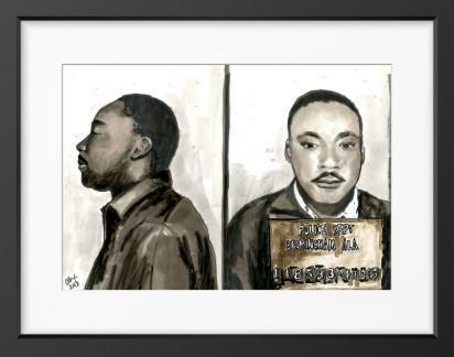 Martin Luther King Jr. - 14x16 / Black Frame / Buy - Limited Edition Print