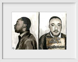 Martin Luther King Jr. - 14x16 / White Frame / Buy - Limited Edition Print