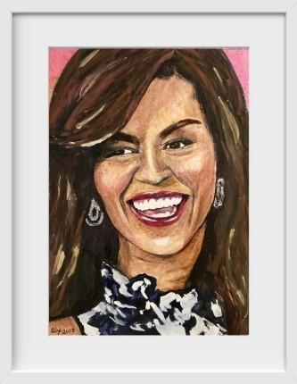 Michelle Obama - 14x16 / White Frame / Buy - Limited Edition Print