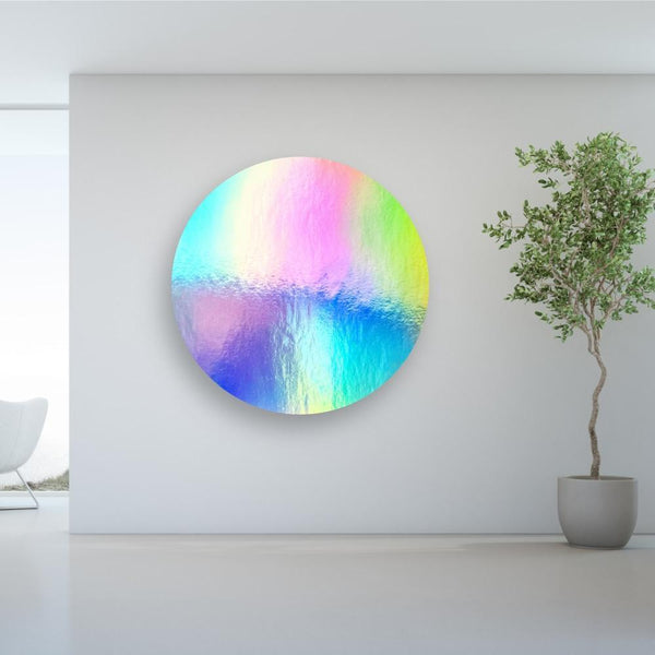 Mirror Rainbow Horizon Acrylic Mountable Round - Acrylic Rounds