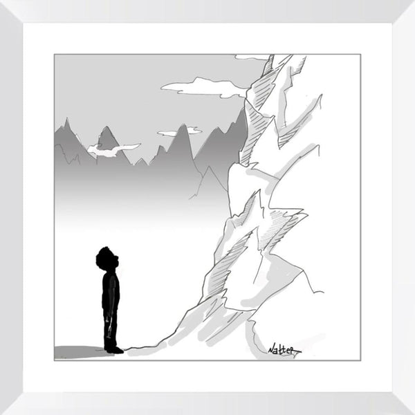 Mountains - 14x14 / White Frame / Buy - Limited Edition Print