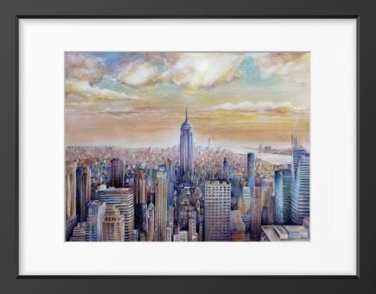 NYC I - 14x16 / Black Frame / Buy - Limited Edition Print