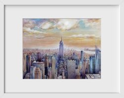 NYC I - 14x16 / White Frame / Buy - Limited Edition Print