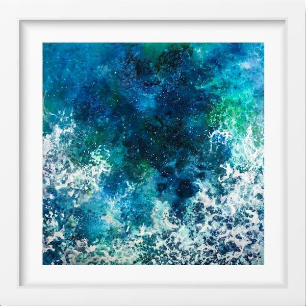 Ocean Dance - 14x14 / White Frame / Buy - Limited Edition Print