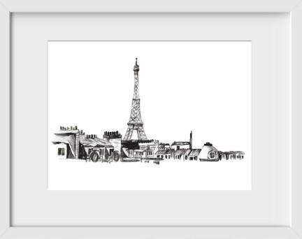 Paris - 14x16 / White Frame / Buy - Original