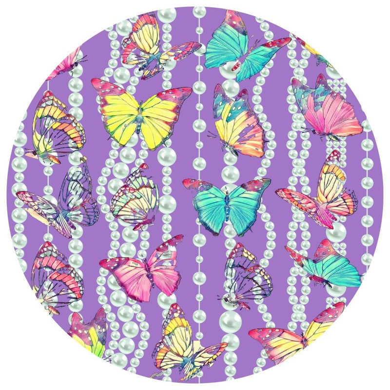 Pearly Butterfly | Acrylic Mountable Round - Acrylic Rounds