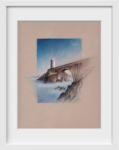 Phare du Petit Minou Brest France - 14x16 / White Frame / Buy - Limited Edition Print