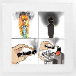 Physician Burnout - 26x36 / White Frame - Limited Edition Print