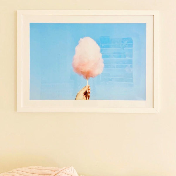Pink Blue and You - Framed Print