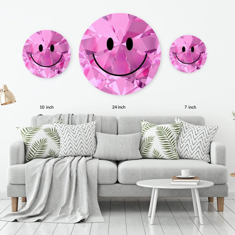Pink Diamond Acrylic Mountable Smilie