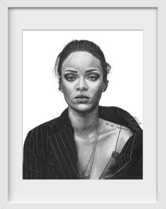 Rihanna - 14x16 / White Frame / Buy - Limited Edition Print