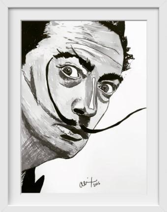 Salvador Dalí - 14x16 / White Frame / Buy - Limited Edition Print