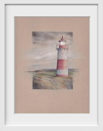 Schleswig-Holstein Lighthouse Germany - 14x16 / White Frame / Buy - Limited Edition Print