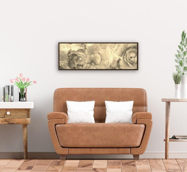 Sepia Floral - Canvas