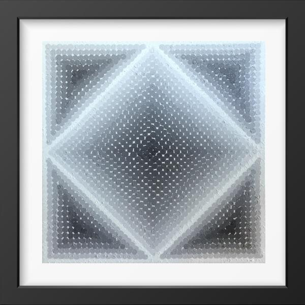 SHADES OF GREY - 14x14 / Black Frame / Buy - Limited Edition Print