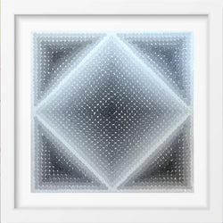 SHADES OF GREY - 14x14 / White Frame / Buy - Limited Edition Print