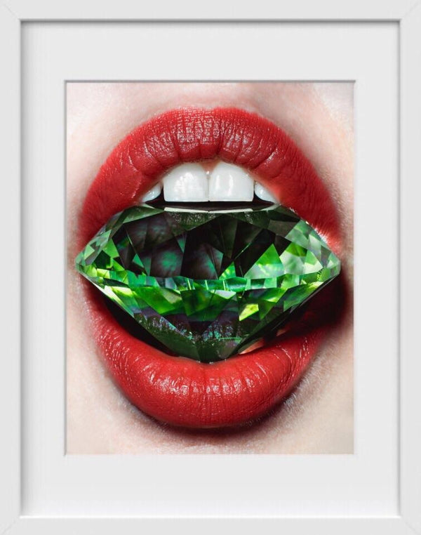 Shine Bright Like an Emerald - 14x16 / White Frame / Buy - Original