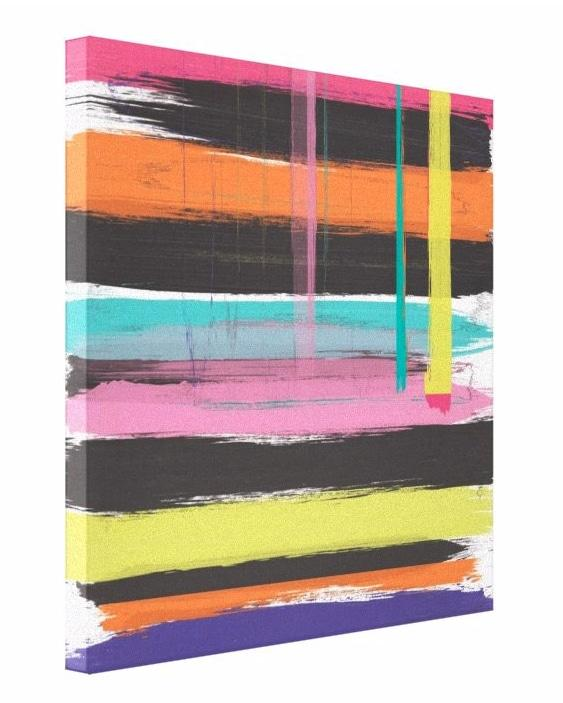 Signature Brights Glitch on Canvas - 60x60 inch - Canvas
