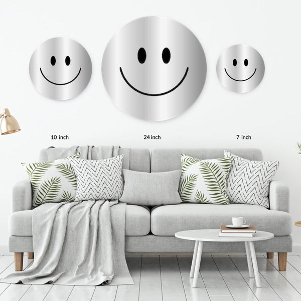 Silver Acrylic Mountable Smilie - Acrylic Mountable Shapes