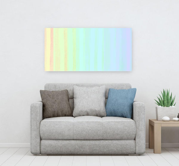 Soft Rainbow Stripes - Acrylic Print