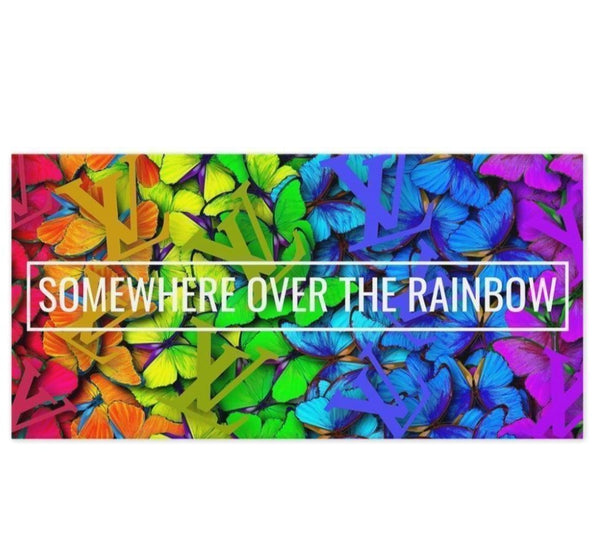 Somewhere Over The Rainbow Butterfly LV - 20x40 inch - Canvas