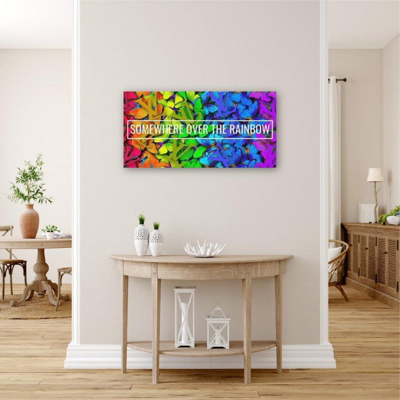 Somewhere Over The Rainbow Butterfly LV - Canvas
