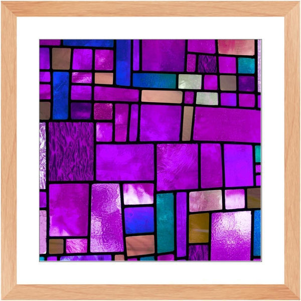 Stained in Purple - 26.5x26.5 inch / Natural - Framed Print