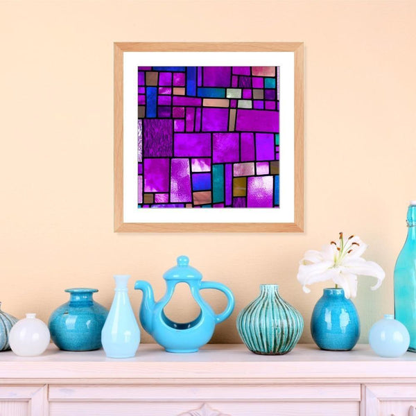 Stained in Purple - Framed Print