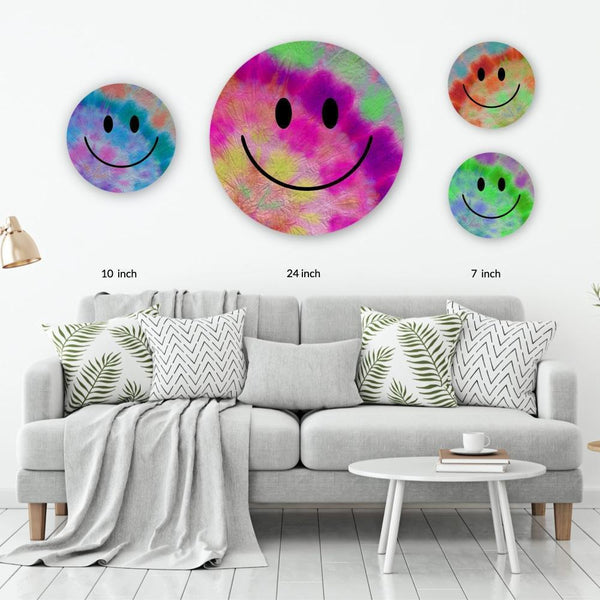Tie Dye Acrylic Mountable Smilies