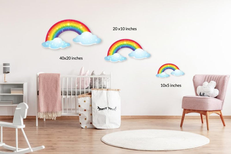 Two Clouds: Acrylic Mountable Rainbow - Acrylic Mountable Shapes