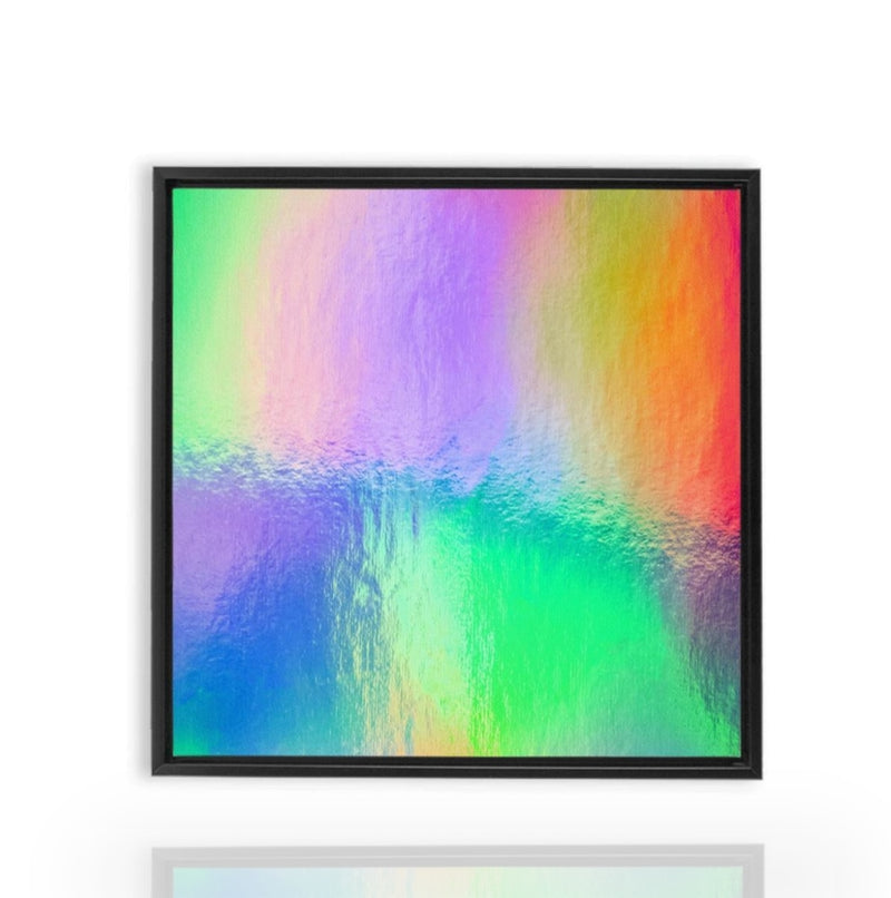 Watery Rainbow Drop - Black / 10x10 inch - Canvas