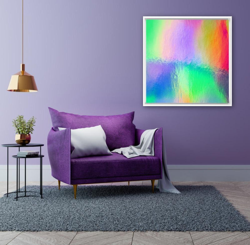 Watery Rainbow Drop - Canvas