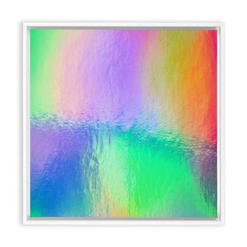 Watery Rainbow Drop - White / 10x10 inch - Canvas