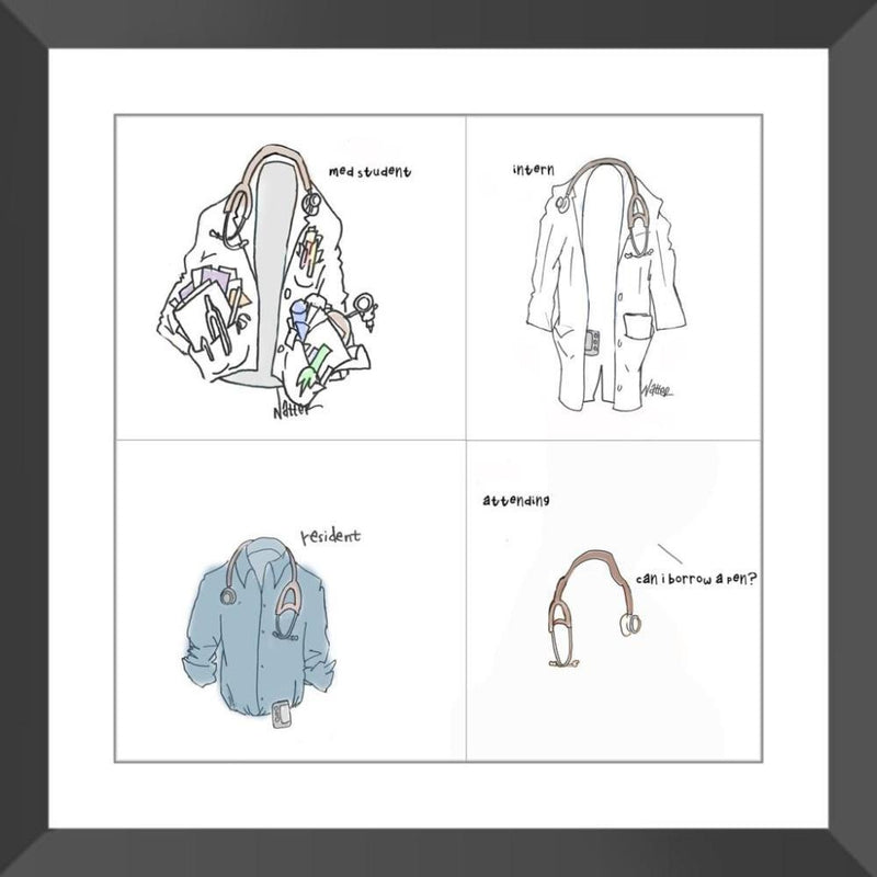 White Coat Carry - 14x14 / Black Frame / Buy - Limited Edition Print