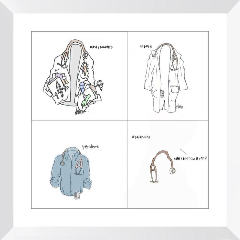 White Coat Carry - 14x14 / White Frame / Buy - Limited Edition Print