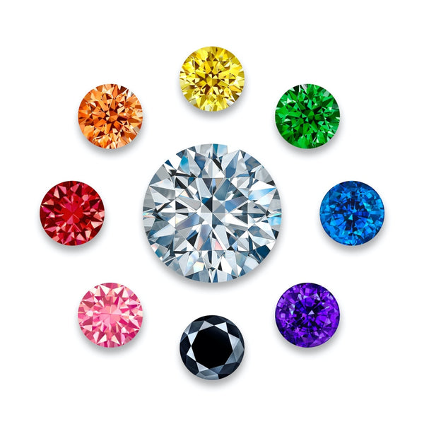 White XL Black & Colored Gems - 10 inch (set of 8) + one 24 inch Diamond