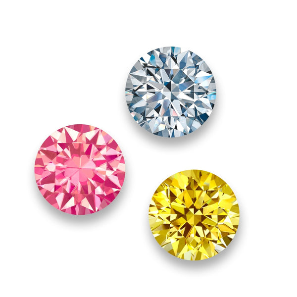 Yellow White & Pink Diamonds - 10 inch (set of 3)