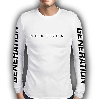 NextGen 'Generation' White Long Sleeve Top - Next Generation Clothing
