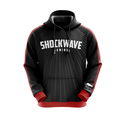 Shockwave Black/Red Pro Hoodie
