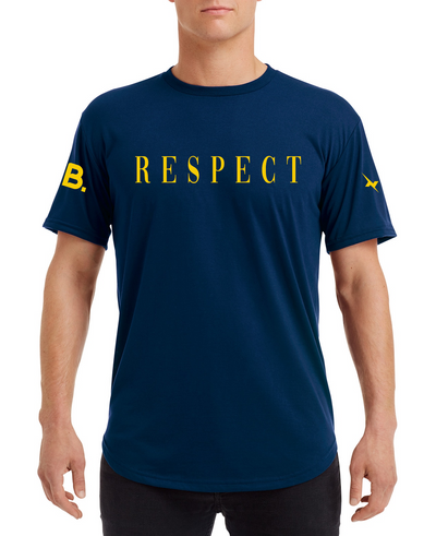 Respect Curve Tee - Navy