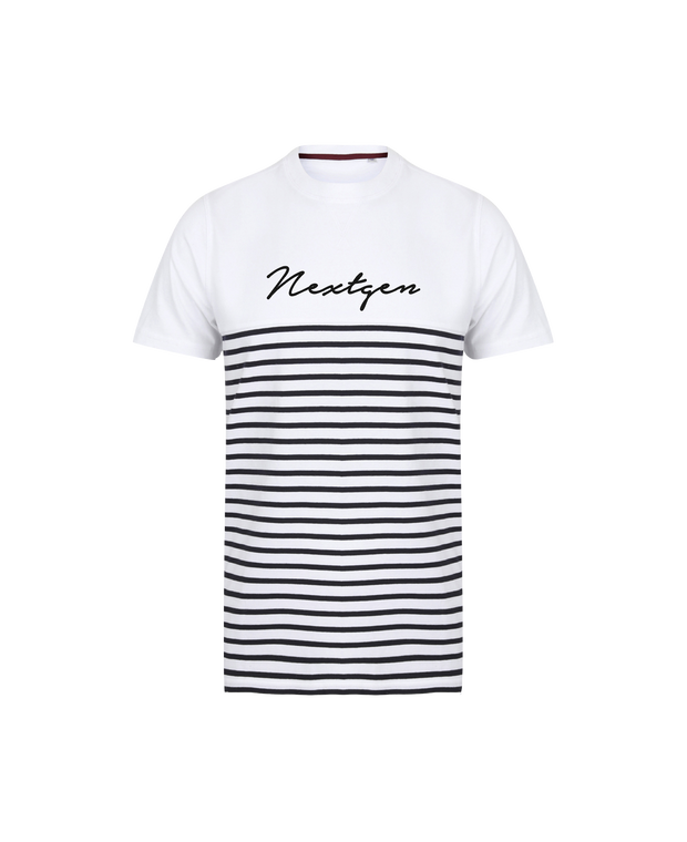 NextGen Striped Short Sleeve Tee - White