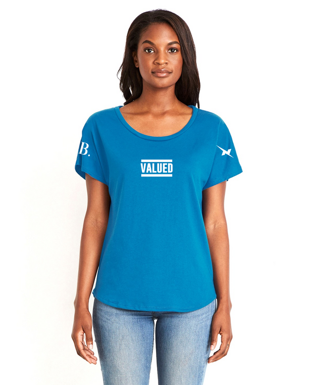 Valued Female Tee - Blue