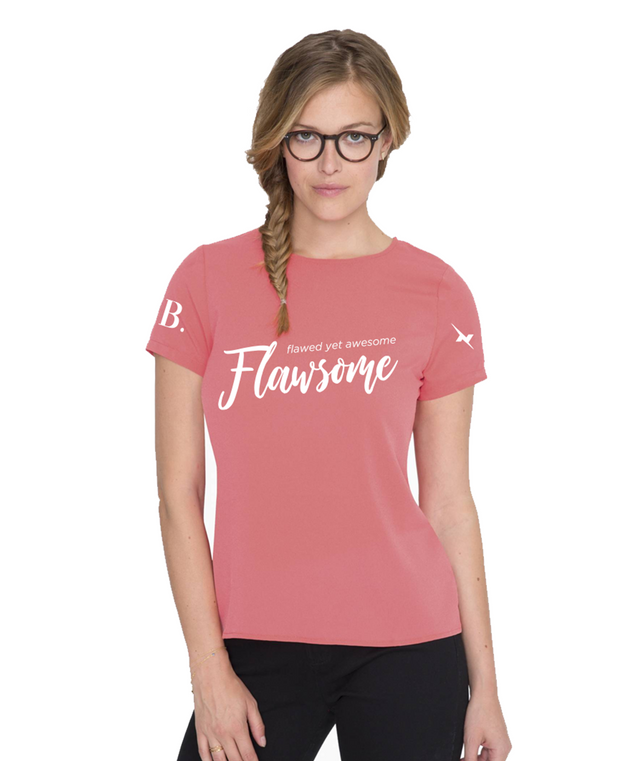 Flawsome Coral Tee