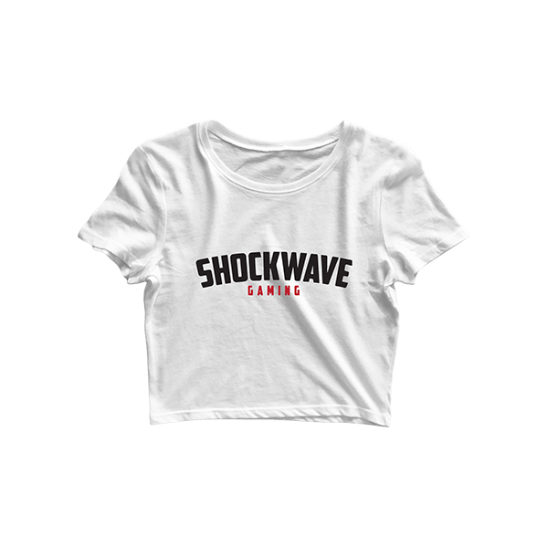Shockwave White Crop Top
