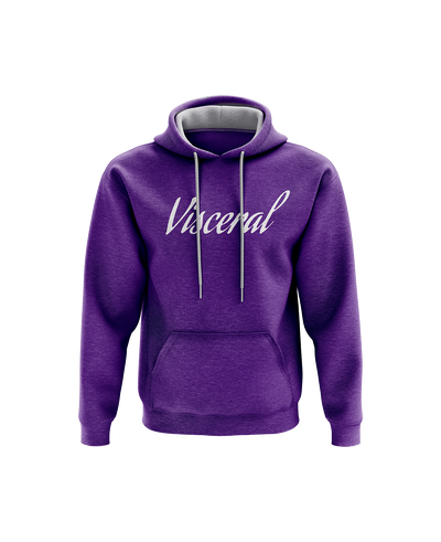 Visceral Signature Contrast Hoodie - Purple/Grey