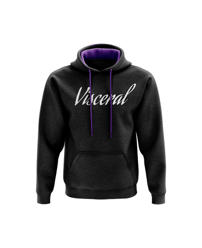 Visceral Signature Contrast Hoodie - Black/Purple